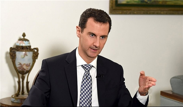 President Assad Appreciates Iran's Assistance to Syria in Fighting Terrorism